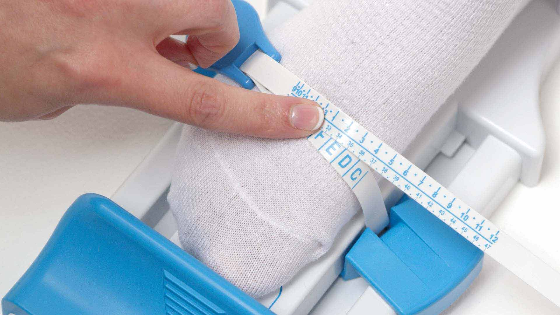 How to use the large measuring gauge - Step 7