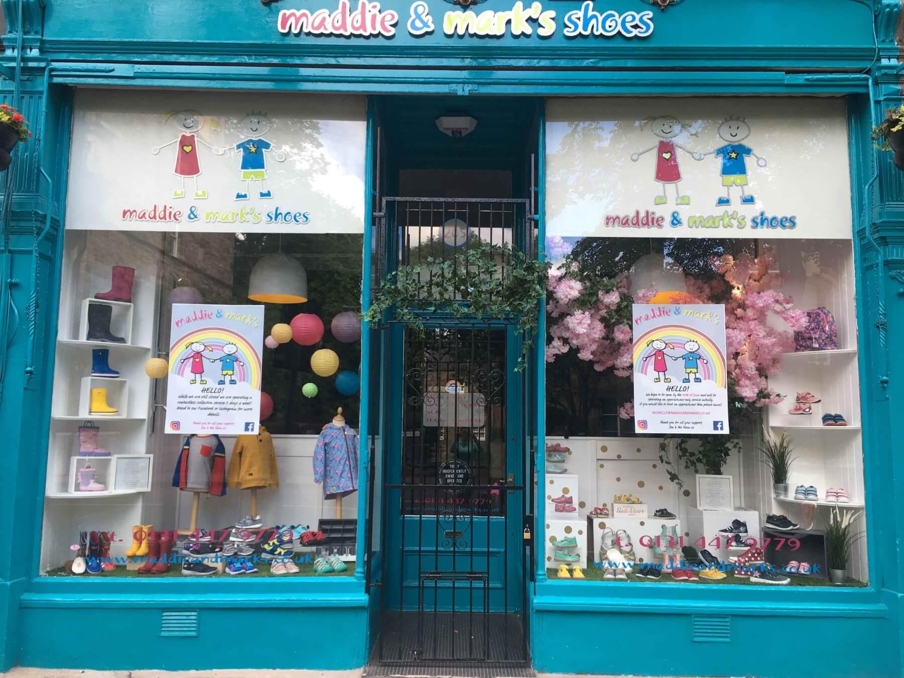 Maddie & Mark's shop front