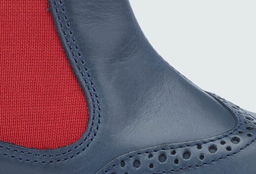 Stitch detail on Digby boot