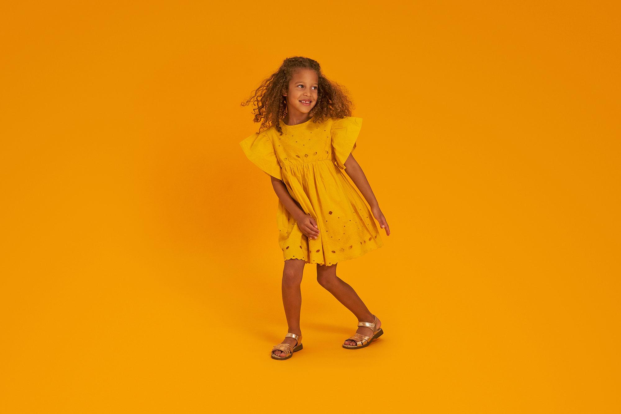 Girl in Start-Rite sandals