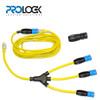 Solution 3: ProLock 3 way W splitter, ProLock 24ft Extension Cord and ProLock locking connector
