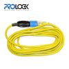 EXTRA HEAVY DUTY, CONTRACTOR GRADE EXTENSION CORD LINE   12/3 SJTW Type cable  High Quality Materials  24 FT  Yellow  Molded ProLock Professional Locking Connector  15 Amps        UL LISTED  CUL APPROVED