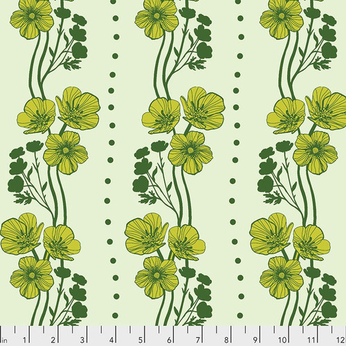 Free Spirit Fabrics - New Buttercups Lime - Triple Take - By Anna Maria Horner