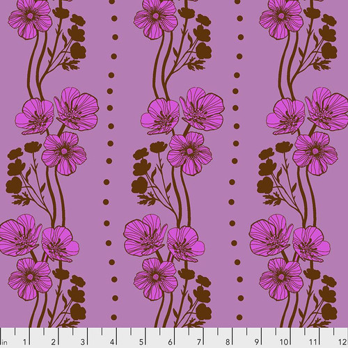 Free Spirit Fabrics - New Buttercups Plum - Triple Take - By Anna Maria Horner