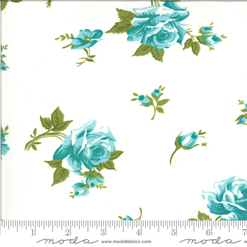 Moda Fabrics - Scattered Roses Porcelain Sky- Pocketful of Posies - Chloe's Closet