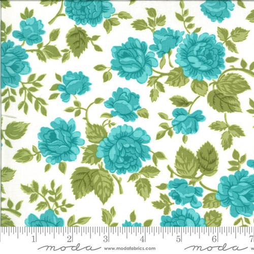 Moda Fabrics - Gathered Roses Porcelain Sky- Pocketful of Posies - Chloe's Closet