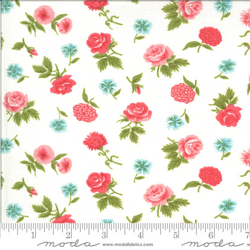 Moda Fabrics - Mini Blooms Porcelain Rosi - Pocketful of Posies - Chloe's Closet