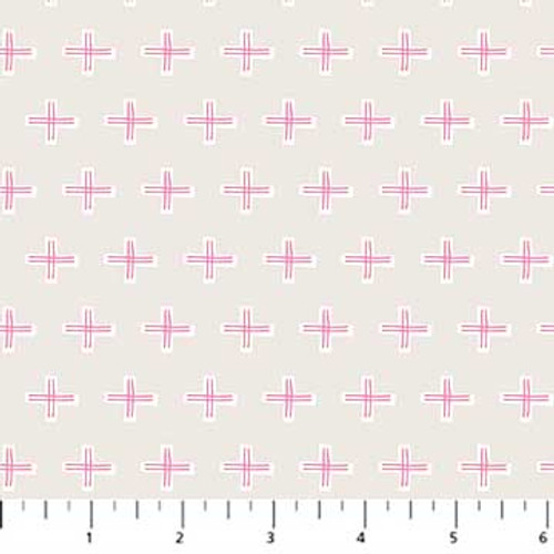 Figo Fabrics - Cross Gray - A Life in Pattern - Cathy Nordstrom