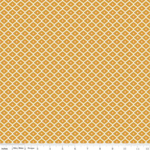 Riley Blake Fabrics - Geometric Mustard - Golden Astor - Gabrielle Neil Design Studio
