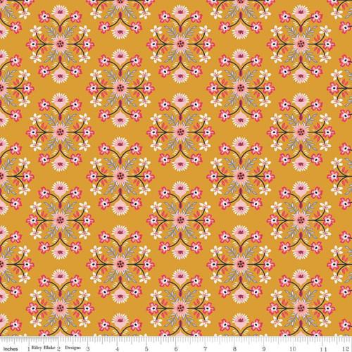 Riley Blake Fabrics - Motif Mustard - Golden Astor - Gabrielle Neil Design Studio