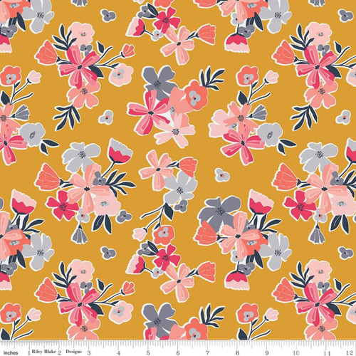 Riley Blake Fabrics - Main Mustard - Golden Astor - Gabrielle Neil Design Studio