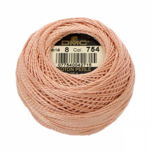 Pearl Cotton Balls - Size 8 - Light Peach - Color 754