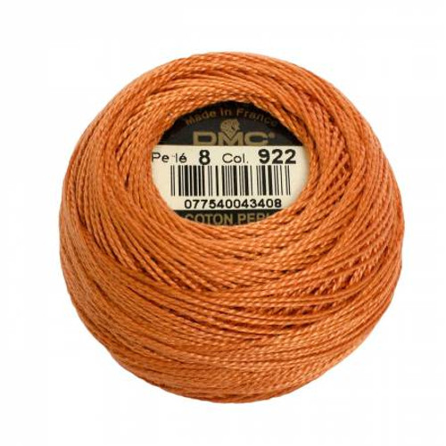 DMC - Pearl Cotton Balls - Size 8 - Light Copper - Color 922