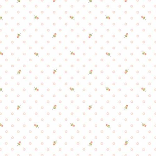 Poppie Cotton - White Berry Dot - Woodland Songbird - Sheri McCulley