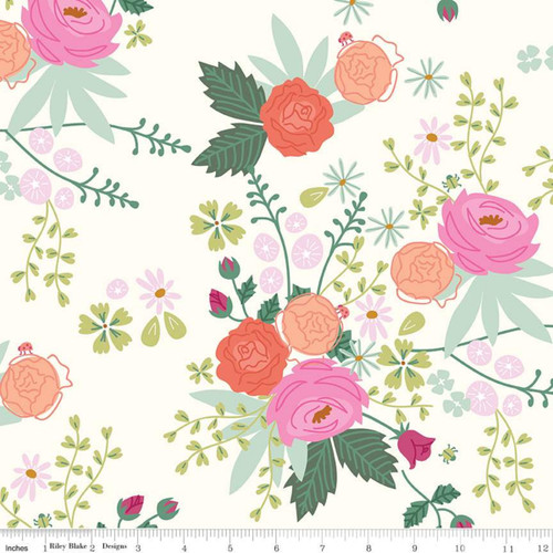 Riley Blake Fabrics - Main Cream - New Dawn - Citrus & Mint Designs