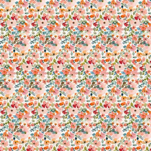 Dear Stella Fabrics - Multi Floral Haze - Creative Cats - Clara Jean Collection