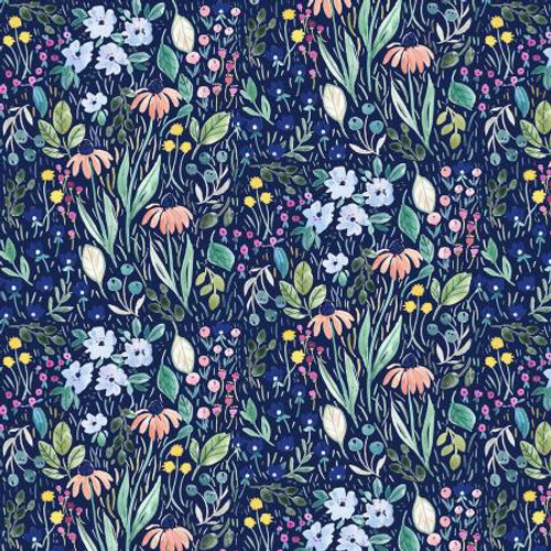Dear Stella Fabrics - Multi Blooming Lovely - Creative Cats - Clara Jean Collection
