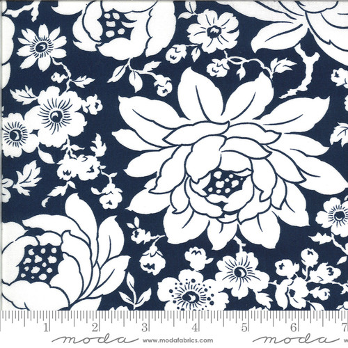 Moda Fabrics - Mums Navy - Shine On - Bonnie & Camille