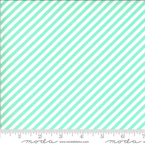 Moda Fabrics - Stripes Aqua - Shine On - Bonnie & Camille