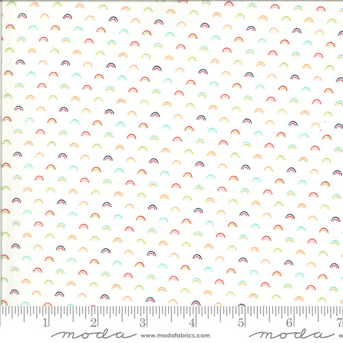 Moda Fabrics - Over Rainbow White Multi - Shine On - Bonnie & Camille