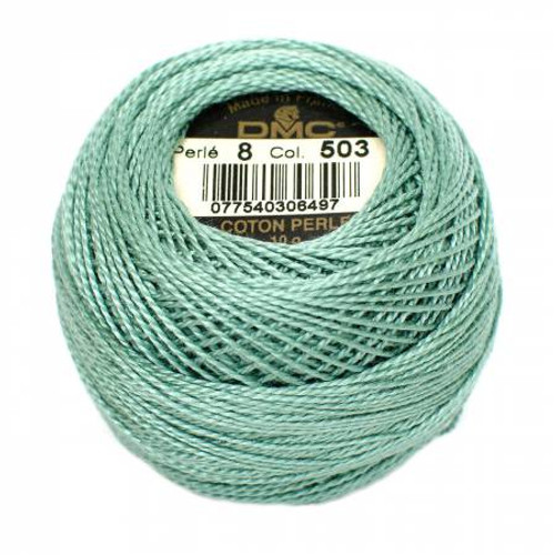DMC - Pearl Cotton Balls - Size 8 - Medium Blue Green - Color 503