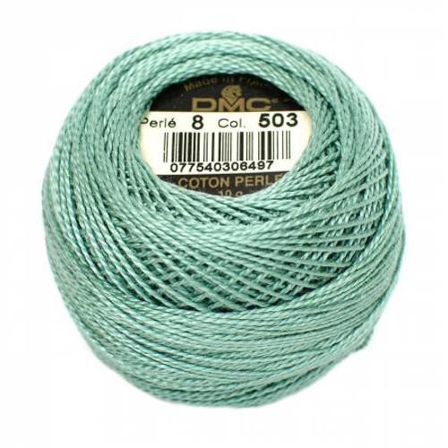 Pearl Cotton Balls - Size 8 - Medium Blue Green - Color 503