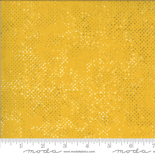 Moda Fabrics -Spotted Mustard - Quotation / Spotted - Zen Chic
