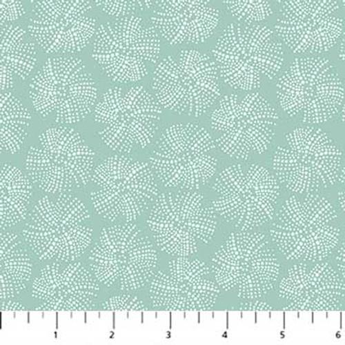 Figo Fabrics - Urchin Texture Mint - Sea Botanica - Sarah Gordon