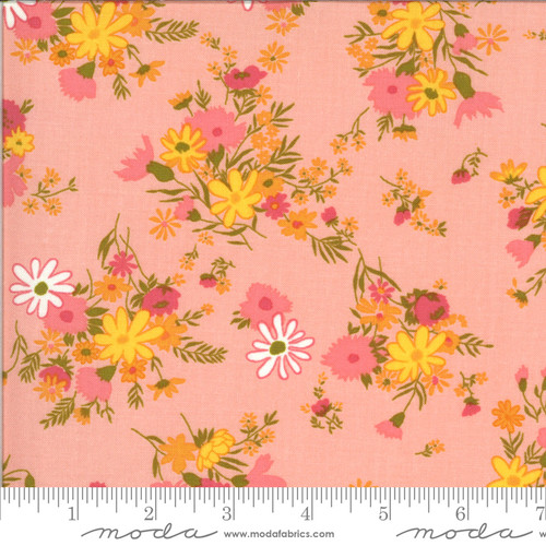 Moda Fabrics - Bouquets Bubblegum - Blooming Bunch  - Maureen McCormick