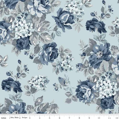 Riley Blake Fabrics - Floral Dusk -  Tranquility - Gerri Robinson - WIDE BACK