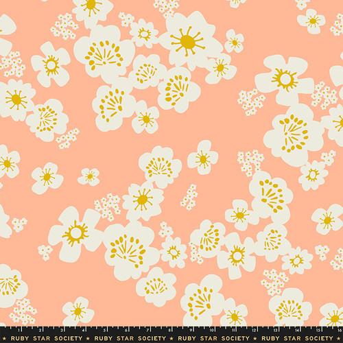 Ruby Star Society - Peach Floral - Whatnot - Rashida Coleman Hale - WIDE BACK