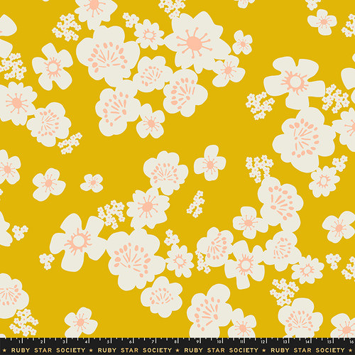 Ruby Star Society - Goldenrod Floral - Whatnot - Rashida Coleman Hale - WIDE BACK