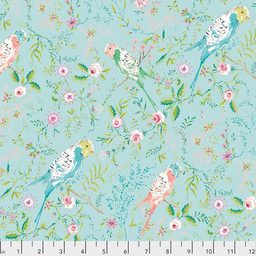 Free Spirit Fabrics - Parakeet Park Aqua - Adelaide Grove - Dena Designs