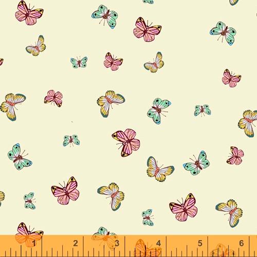 Windham Fabrics - White Butterfly  - Posy - Annabel Wrigley