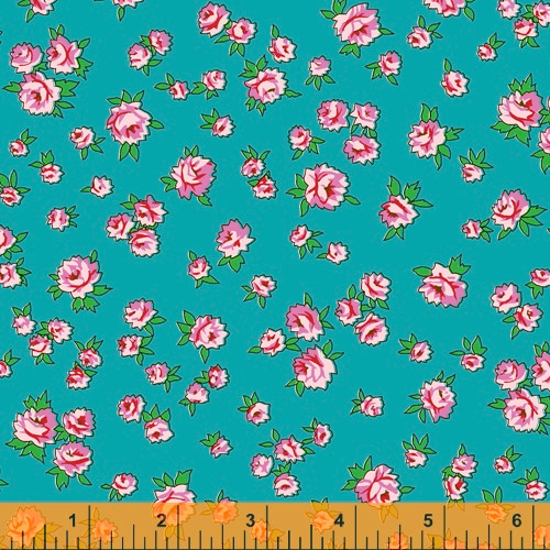 Windham Fabrics - Light Blue Small Posy - Posy - Annabel Wrigley