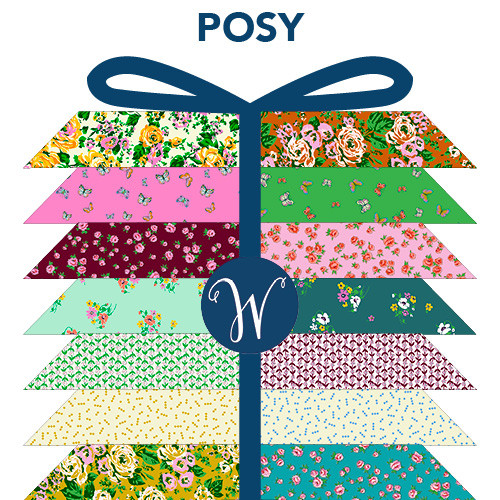 Posy FQ Pre-cut - 19 pieces - Windham Fabrics