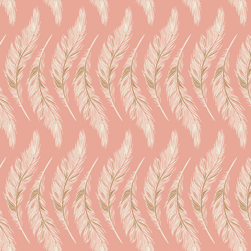 Art Gallery Fabrics - Presently Plumes Rose - Homebody - Maureen Cracknell