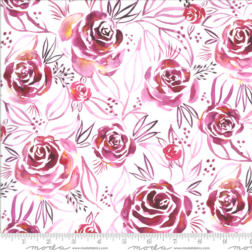 Moda Fabrics - Roses Magenta - Moody Bloom Digital - By Create Joy Project