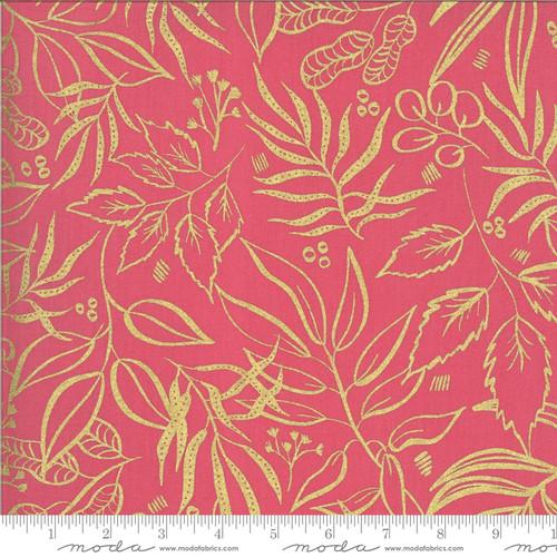 Moda Fabrics -Metallic Plantlife Fuchsia - Moody Bloom Digital - By Create Joy Project