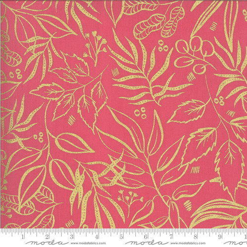 Moda Fabrics -Metallic Plantlife Fuchsia - Moody Bloom Digital - By Create Joy Project