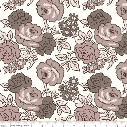 Riley Blake Fabrics - Roses Neutral - Flea Market  - Lori Holt - WIDE BACK