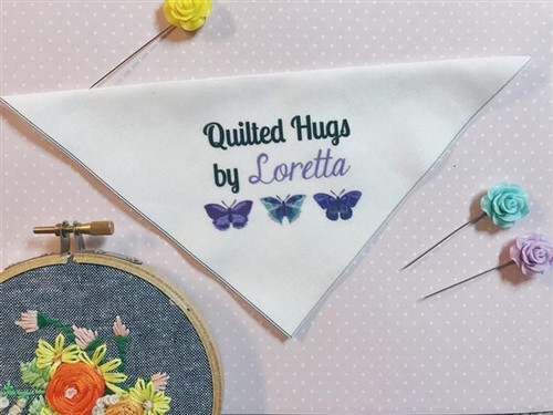 Butterfly Custom Quilt Label