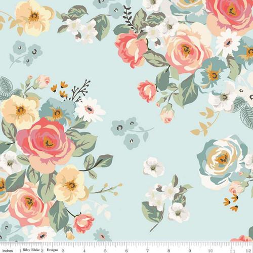 Riley Blake Fabrics - Main Aqua - Gingham Gardens - My Mind's Eye