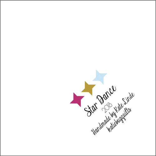Star Dance Quilt Label