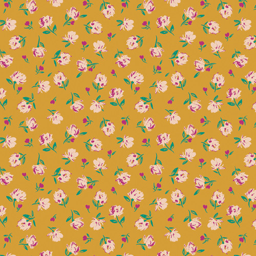 Art Gallery Fabrics - Gentle Rosebuds Solar - Flower Society - AGF Studio