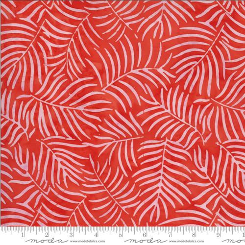 Moda Fabrics - Palms Coral- Malibu Batiks