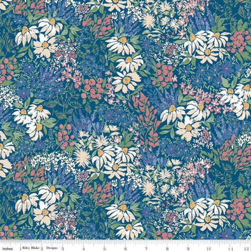 Riley Blake Fabrics - Main Blue - Rocky Mountain Wild - Corinne Wells