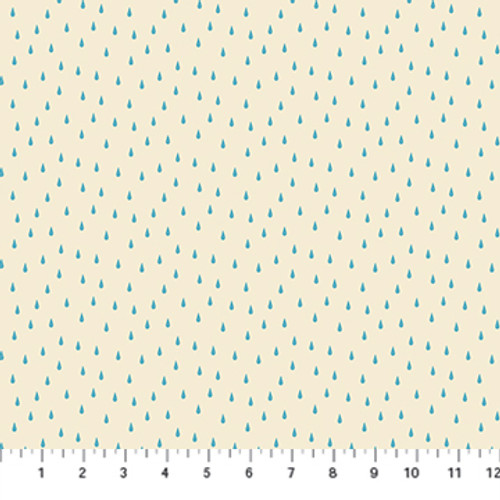 Figo Fabrics - Rain in Beige - Simple Pleasures - Naomi Wilkinson