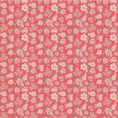 Poppie Cotton - Pink Mini Fleurs - Dots & Posies - Poppie Cotton Collection