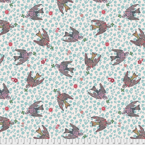 Free Spirit Fabrics - The Swallows Rose - Woodland Walk - Nathalie Lete